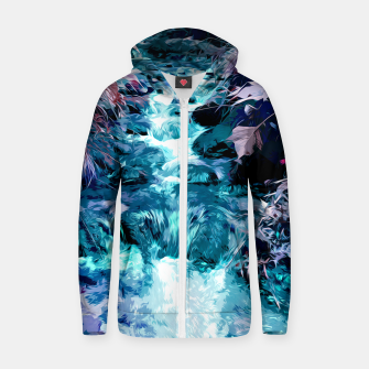Thumbnail image of Magical mountain river, fairy colors, leaves, water, peaceful nature view Zip up hoodie, Live Heroes