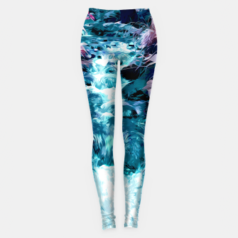 Thumbnail image of Magical mountain river, fairy colors, leaves, water, peaceful nature view Leggings, Live Heroes