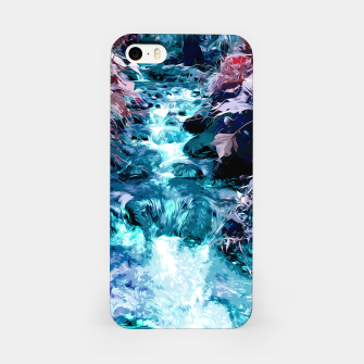 Thumbnail image of Magical mountain river, fairy colors, leaves, water, peaceful nature view iPhone Case, Live Heroes