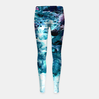 Thumbnail image of Magical mountain river, fairy colors, leaves, water, peaceful nature view Girl's leggings, Live Heroes
