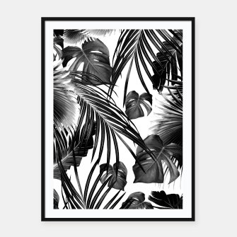 Thumbnail image of Tropical Jungle Leaves Dream #11 #tropical #decor #art Plakat mit rahmen, Live Heroes