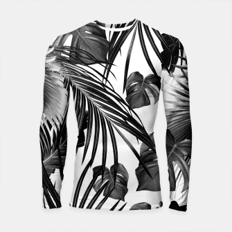 Thumbnail image of Tropical Jungle Leaves Dream #11 #tropical #decor #art Longsleeve rashguard, Live Heroes