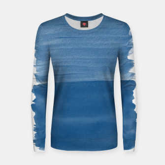 Miniaturka Classic Blue Abstract Minimalism #1 #minimal #ink #decor #art Frauen sweatshirt, Live Heroes