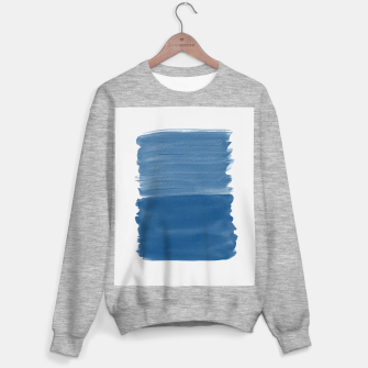 Miniaturka Classic Blue Abstract Minimalism #1 #minimal #ink #decor #art Sweatshirt regulär, Live Heroes