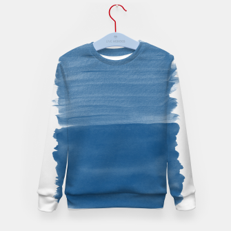 Miniaturka Classic Blue Abstract Minimalism #1 #minimal #ink #decor #art Kindersweatshirt, Live Heroes