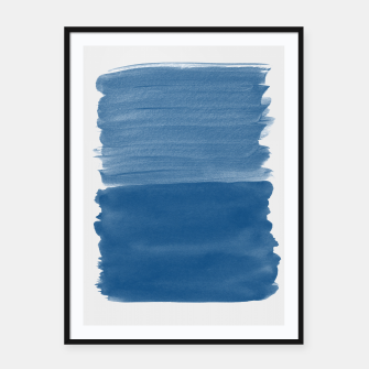 Miniature de image de Classic Blue Abstract Minimalism #1 #minimal #ink #decor #art Plakat mit rahmen, Live Heroes