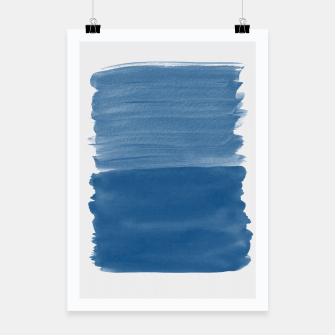 Miniature de image de Classic Blue Abstract Minimalism #1 #minimal #ink #decor #art Plakat, Live Heroes