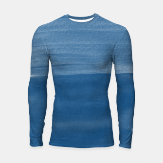Miniature de image de Classic Blue Abstract Minimalism #1 #minimal #ink #decor #art Longsleeve rashguard, Live Heroes