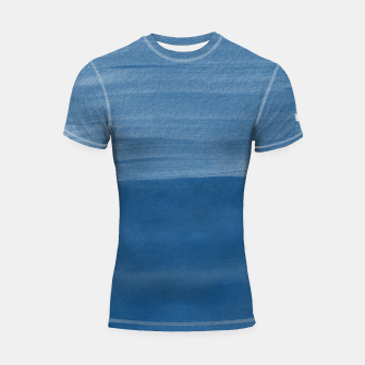Miniature de image de Classic Blue Abstract Minimalism #1 #minimal #ink #decor #art Shortsleeve rashguard, Live Heroes