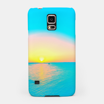 Miniature de image de Romantic summer sunset in blue and a sailing boat in the sea Samsung Case, Live Heroes