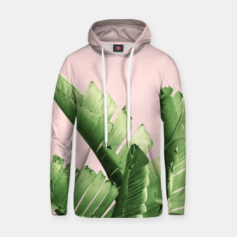 Blush Banana Leaves Dream #12 #tropical #decor #art Kapuzenpullover obraz miniatury