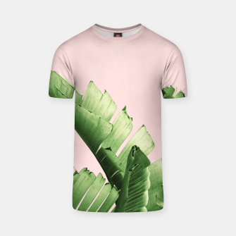 Blush Banana Leaves Dream #12 #tropical #decor #art T-Shirt obraz miniatury