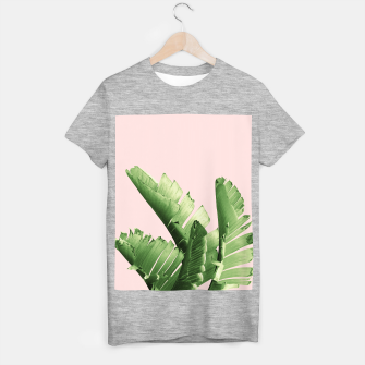 Blush Banana Leaves Dream #12 #tropical #decor #art T-Shirt regulär obraz miniatury