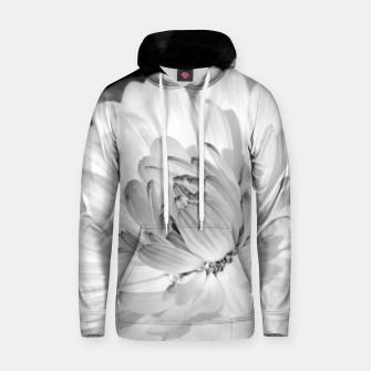 Thumbnail image of White blossoming chrysanth, black and white flower photography Hoodie, Live Heroes
