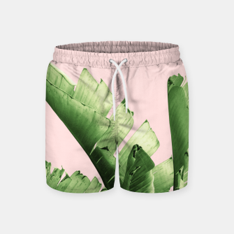 Blush Banana Leaves Dream #12 #tropical #decor #art Badeshorts obraz miniatury