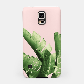 Miniaturka Blush Banana Leaves Dream #12 #tropical #decor #art Handyhülle für Samsung, Live Heroes