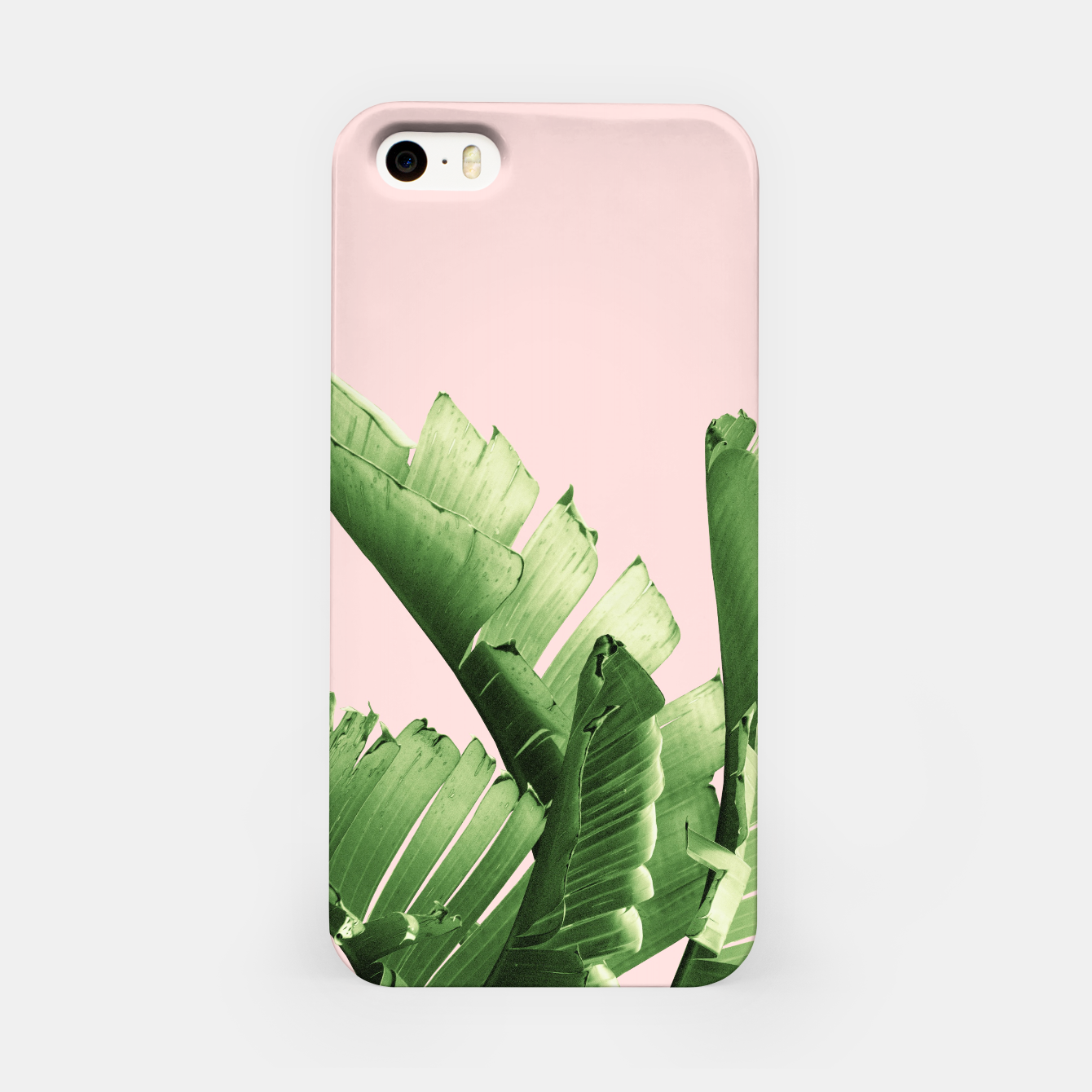 Zdjęcie Blush Banana Leaves Dream #12 #tropical #decor #art iPhone-Hülle - Live Heroes