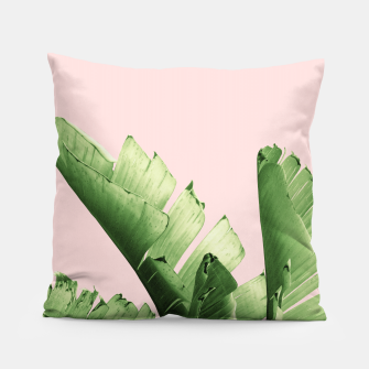 Blush Banana Leaves Dream #12 #tropical #decor #art Kissen obraz miniatury