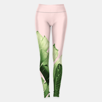 Blush Banana Leaves Dream #12 #tropical #decor #art Leggings obraz miniatury