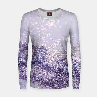 Miniature de image de Lilac Mermaid Magic Glitter #1 (Faux Glitter) #shiny #decor #art Frauen sweatshirt, Live Heroes