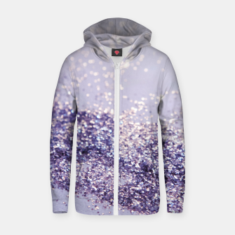 Miniature de image de Lilac Mermaid Magic Glitter #1 (Faux Glitter) #shiny #decor #art Reißverschluss kapuzenpullover, Live Heroes