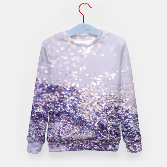 Miniature de image de Lilac Mermaid Magic Glitter #1 (Faux Glitter) #shiny #decor #art Kindersweatshirt, Live Heroes
