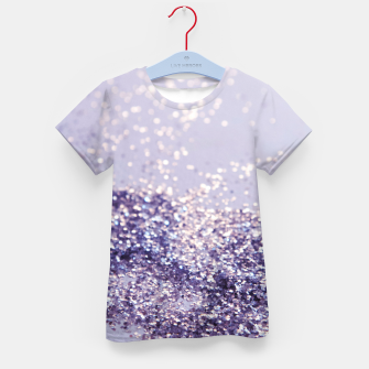 Miniature de image de Lilac Mermaid Magic Glitter #1 (Faux Glitter) #shiny #decor #art T-Shirt für kinder, Live Heroes