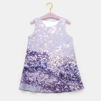 Miniaturka Lilac Mermaid Magic Glitter #1 (Faux Glitter) #shiny #decor #art Mädchen-Sommerkleid, Live Heroes