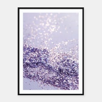 Miniature de image de Lilac Mermaid Magic Glitter #1 (Faux Glitter) #shiny #decor #art Plakat mit rahmen, Live Heroes