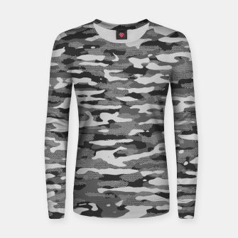 Thumbnail image of Grey Camouflage Pattern Mosaic Style Frauen sweatshirt, Live Heroes