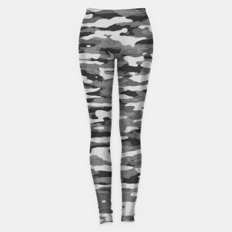 Miniatur Grey Camouflage Pattern Mosaic Style Leggings, Live Heroes