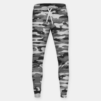 Miniatur Grey Camouflage Pattern Mosaic Style Hosen, Live Heroes