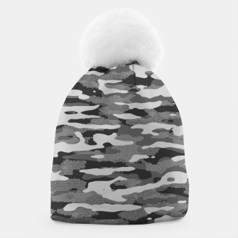 Miniatur Grey Camouflage Pattern Mosaic Style Mütze, Live Heroes