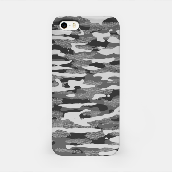 Miniatur Grey Camouflage Pattern Mosaic Style iPhone-Hülle, Live Heroes