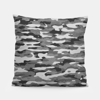 Miniatur Grey Camouflage Pattern Mosaic Style Kissen, Live Heroes