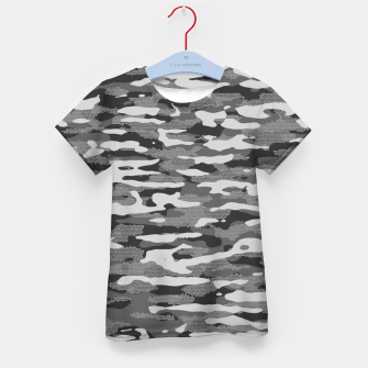 Thumbnail image of Grey Camouflage Pattern Mosaic Style T-Shirt für kinder, Live Heroes