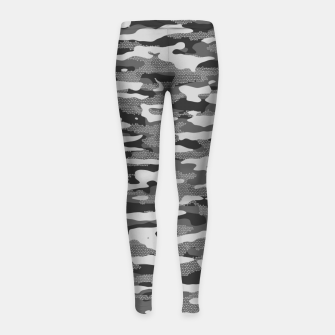 Miniatur Grey Camouflage Pattern Mosaic Style Kinder-Leggins, Live Heroes