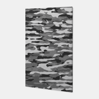 Miniatur Grey Camouflage Pattern Mosaic Style Canvas, Live Heroes