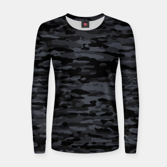 Thumbnail image of Night Camouflage Pattern  Frauen sweatshirt, Live Heroes