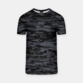 Miniatur Night Camouflage Pattern  T-Shirt, Live Heroes