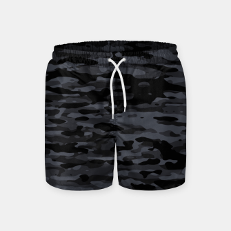 Miniatur Night Camouflage Pattern  Badeshorts, Live Heroes