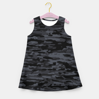 Thumbnail image of Night Camouflage Pattern  Mädchen-Sommerkleid, Live Heroes