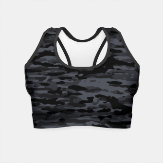 Miniatur Night Camouflage Pattern  Crop Top, Live Heroes