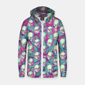 Kawaii Hawaii Goth Skulls Zip up hoodie thumbnail image