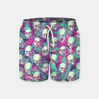 Thumbnail image of Kawaii Hawaii Goth Skulls Swim Shorts, Live Heroes