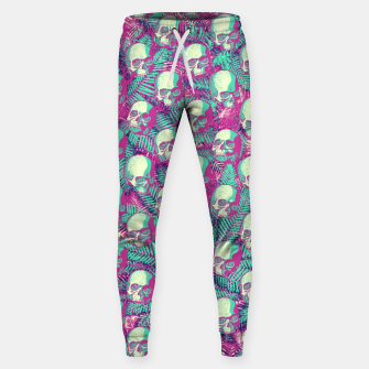 Thumbnail image of Kawaii Hawaii Goth Skulls Sweatpants, Live Heroes