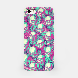 Kawaii Hawaii Goth Skulls iPhone Case thumbnail image