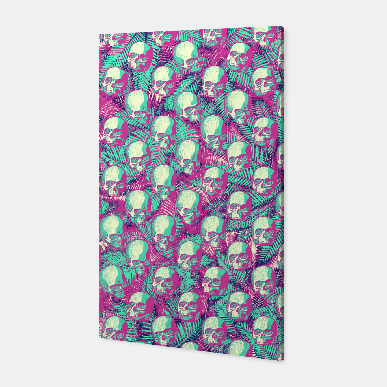 Image of Kawaii Hawaii Goth Skulls Canvas - Live Heroes