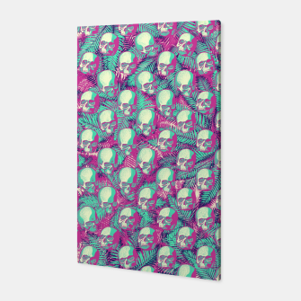 Kawaii Hawaii Goth Skulls Canvas thumbnail image