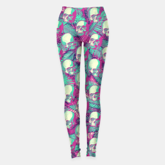 Thumbnail image of Kawaii Hawaii Goth Skulls Leggings, Live Heroes